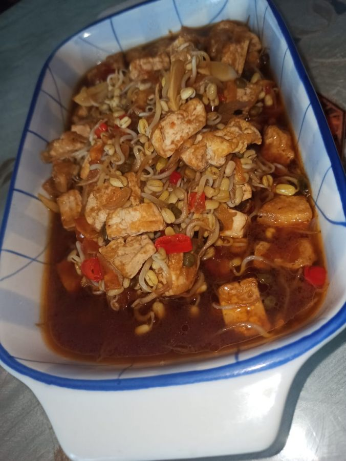 Resep Masakan Praktis yang Enak, Tahu Taoge Kecap Pedas